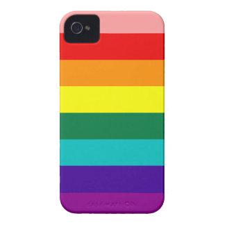 Primer del arco iris del orgullo de la bandera iPhone 4 cobertura