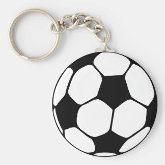 Primer del balón de fútbol llavero redondo tipo pin