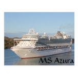 Primer del barco de cruceros del ms Azura en Antig Tarjeta Postal