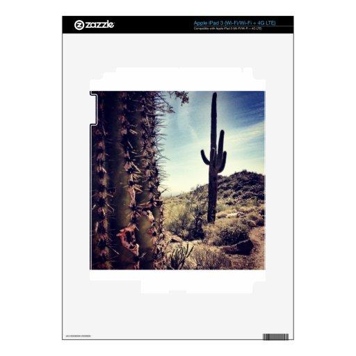 Primer del cactus iPad 3 pegatinas skins