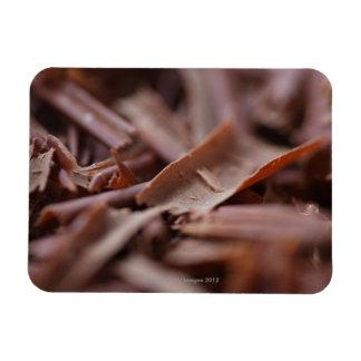 Primer del chocolate en la torta del bosque negro iman flexible
