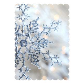"""Primer del copo de nieve invitación 5"""" x 7"""""""