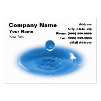 Primer del descenso del agua azul tarjeta de negocio