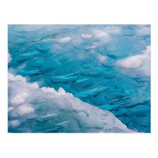 Primer del hielo azul tarjeta postal