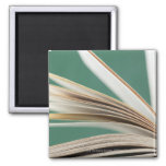 Primer del libro abierto, tiro del estudio imán para frigorifico