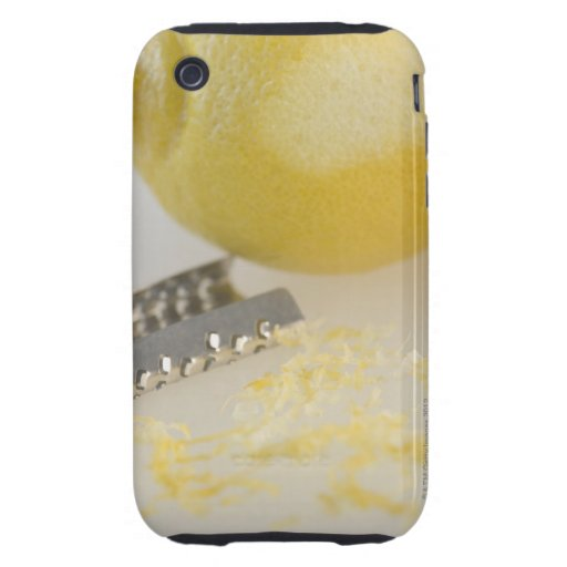 Primer del limón y del rallador funda resistente para iPhone 3