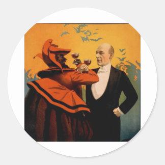 Primer del mago de Harry Kellar Pegatina Redonda