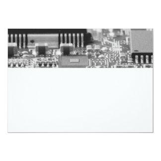Primer del microprocesador de ordenador invitación 12,7 x 17,8 cm