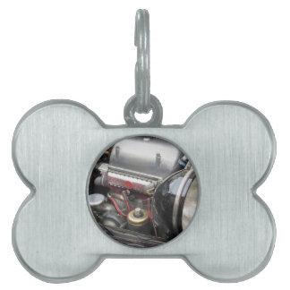 Primer del motor de coche clásico italiano placa de mascota