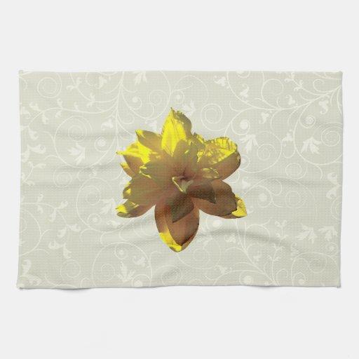 Primer del narciso amarillo toallas