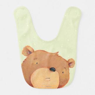 Primer del oso de Brown grande Babero Para Bebé