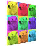 Primer del oso polar de Popart del arte pop del Gr Impresiones De Lienzo