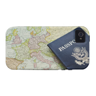 Primer del pasaporte que miente en mapa europeo Case-Mate iPhone 4 carcasas