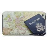 Primer del pasaporte que miente en mapa europeo Case-Mate iPod touch protector