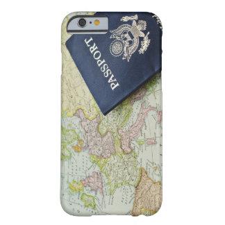 Primer del pasaporte que miente en mapa europeo funda de iPhone 6 barely there