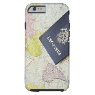 Primer del pasaporte que miente en mapa funda para iPhone 6 tough