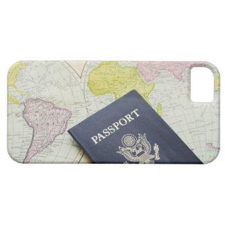 Primer del pasaporte que miente en mapa iPhone 5 funda