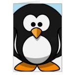 Primer del pingüino felicitación