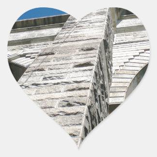 Primer del puente de Brooklyn Pegatina En Forma De Corazón