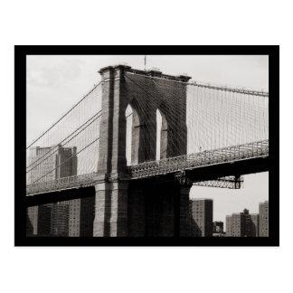 Primer del puente de NYC Brooklyn Tarjetas Postales