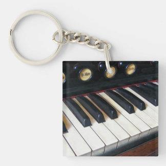 Primer del teclado del órgano llavero cuadrado acrílico a doble cara