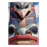 Primer del tótem en Sitka, Alaska, los E.E.U.U. Tarjetas