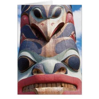 Primer del tótem en Sitka Alaska los E E U U Tarjetas