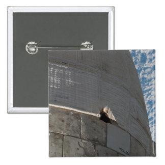 Primer del transbordador espacial la Atlántida Pin Cuadrado