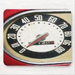primer del velocímetro del vintage de los años 40 alfombrilla de raton