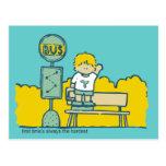 Primer día de camisetas y de regalos de la escuela postal