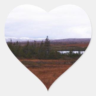 Primer día de invierno pegatina en forma de corazón