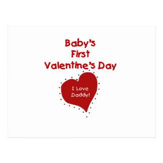 Primer día de San Valentín del corazón I del papá Postales
