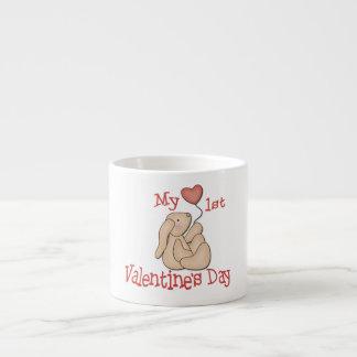 Primer día de San Valentín Taza Espresso