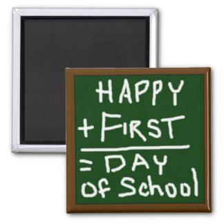 Primer día feliz de imán de la escuela