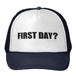 ¿Primer día? Gorros