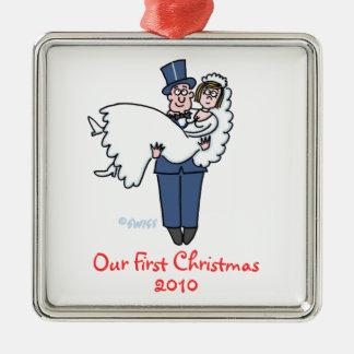 Primer dibujo animado del navidad de los recienes ornato