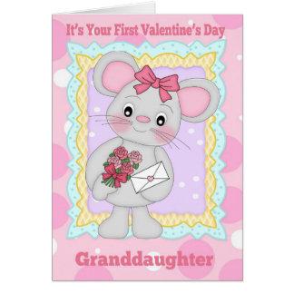 Primer el día de San Valentín de la nieta con poco Tarjeton