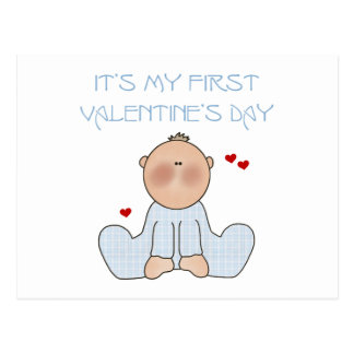 Primer el día de San Valentín del bebé Postal