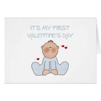 Primer el día de San Valentín del bebé Felicitaciones