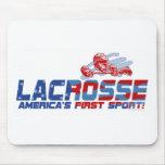 Primer engranaje del deporte de LaCrosse América Alfombrilla De Ratón