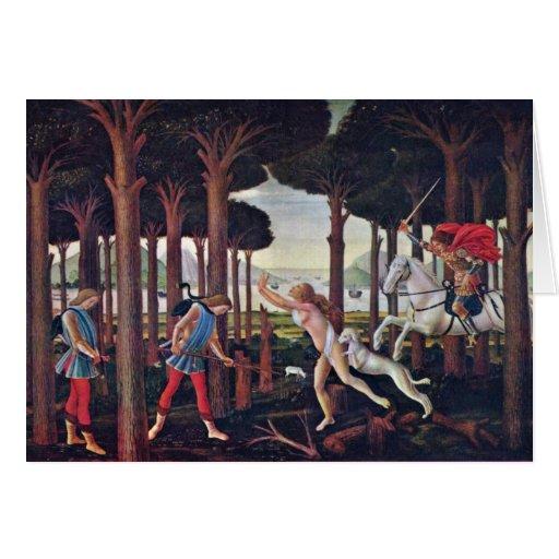 """Primer episodio """"por Botticelli Sandro Tarjeta De Felicitación"""