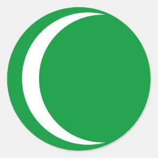 Primer estado del saudí, la Arabia Saudita Etiquetas Redondas