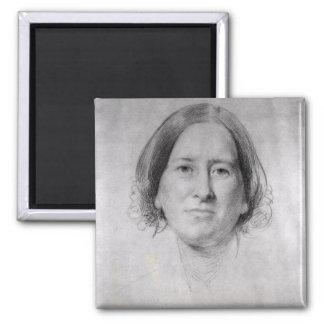Primer estudio para el retrato de George Eliot Imán De Frigorífico