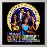 Primer familia Obama Poster