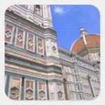 Primer famoso de la iglesia de Doumo en Florencia, Calcomanias Cuadradas