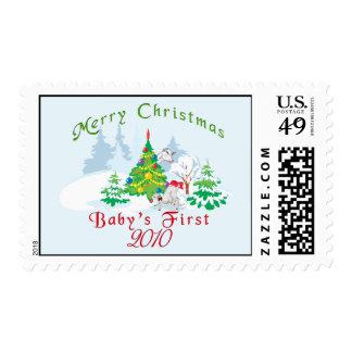 Primer franqueo 2010 del navidad del bebé