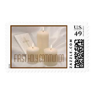 Primer franqueo de la comunión santa timbres postales
