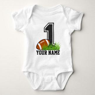 Primer fútbol personalizado del cumpleaños camisas