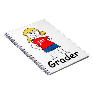 Primer graduador del chica spiral notebooks