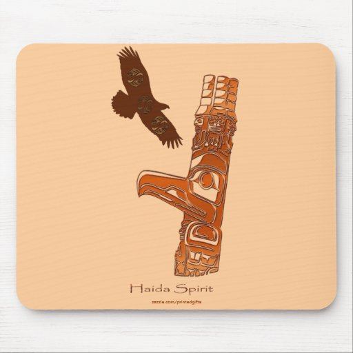 Primer Haida Eagle de las naciones y tótem Mousepa Alfombrilla De Raton